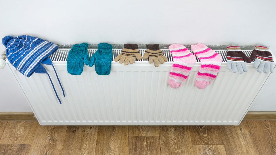 Condensation Tip - Avoid hanging wet washing on radiators.